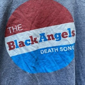 The Black Angels Death Song gray tee shirt size M